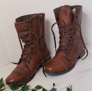 Steve Madden Shoes - Steve madden troopa leather combat boots size 7.5